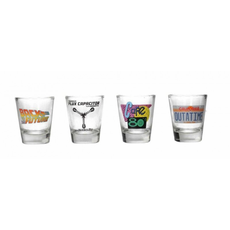 BACK TO THE FUTURE - Set of 4 Shot Glasses - P.Derive  171625  Back to the future