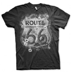 LIFESTYLE - T-Shirt Route 66 Bulletholes (XL) 156501  T-Shirts